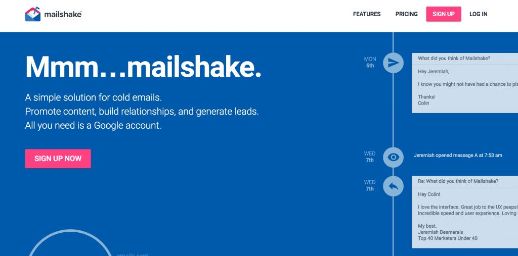 Mailshake para email outreach