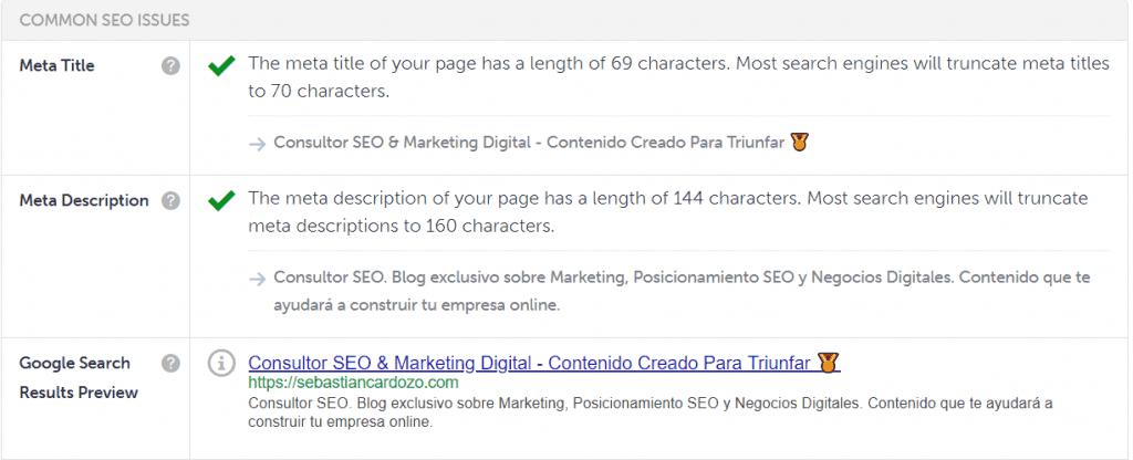 Meta Title SEO Site Checker 2