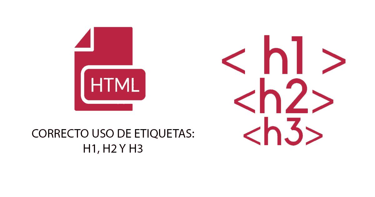Uso de etiquetas h1, h2
