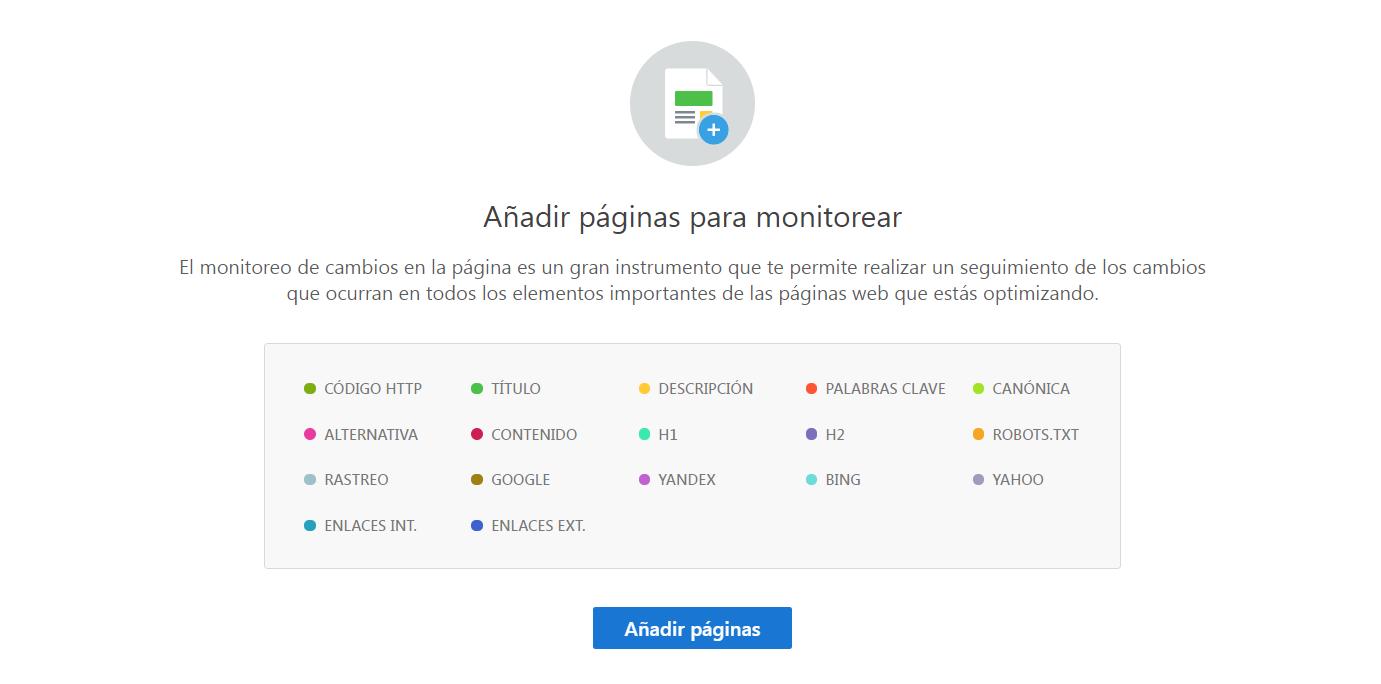 Monitoreo de paginas web